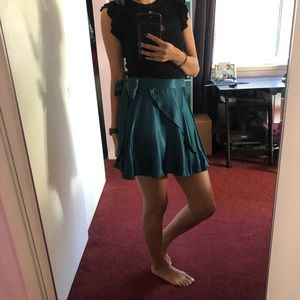 Urban Outfitters Skirts - Urban Outfitters Satin Wrap Skirt